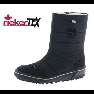 RIEKER Z6485-00 FEKETE CSIZMA 36