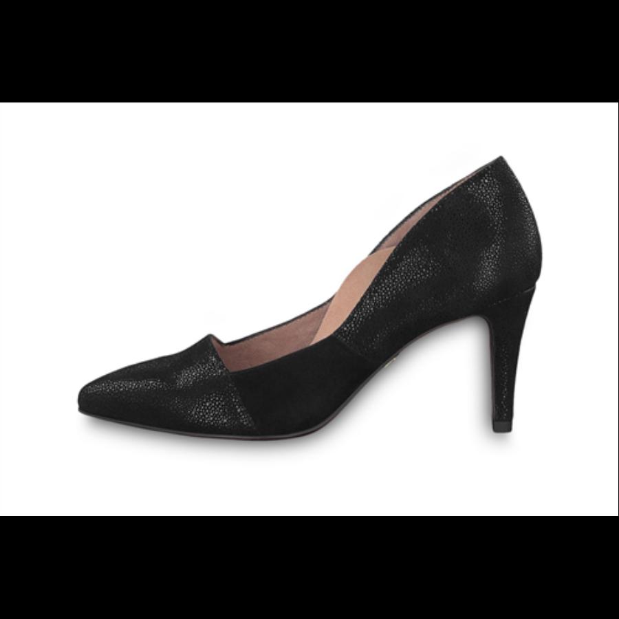 Női, alkalmi cipő, új, fekete félfényes színben 40 es